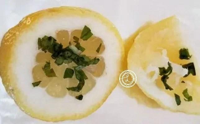 Lemon slice with basil