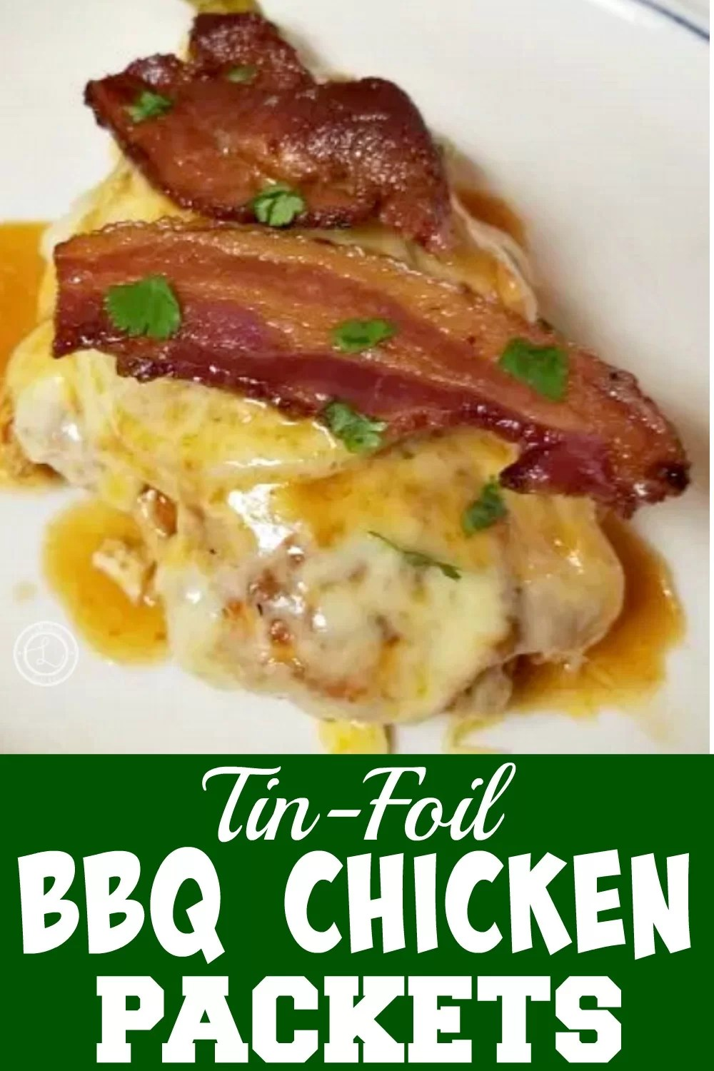 Tin-Foil Chicken with cheese and bacon