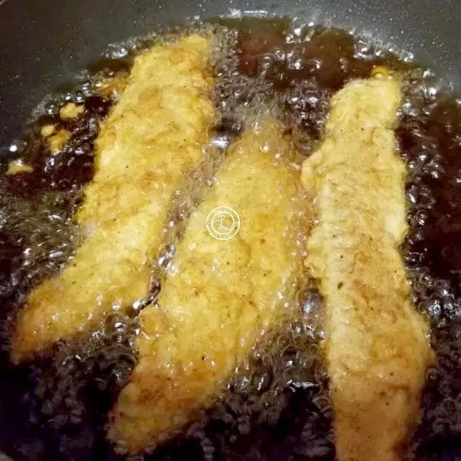 Frying Chicken Strips