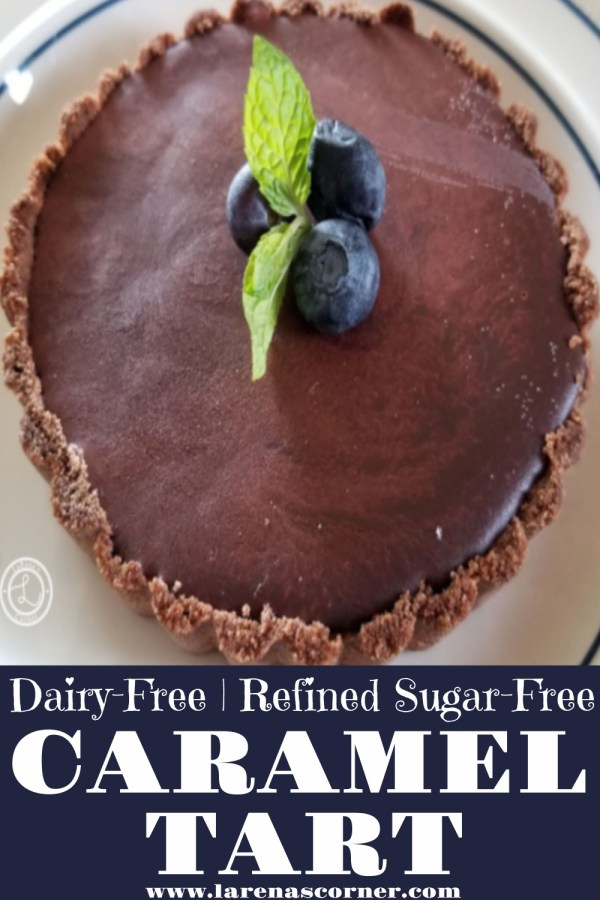 Picture of the Dairy-Free Caramel Tart with Chocolate Topping
