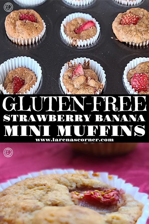 Gluten-Free Strawberry Banana Mini Muffins
