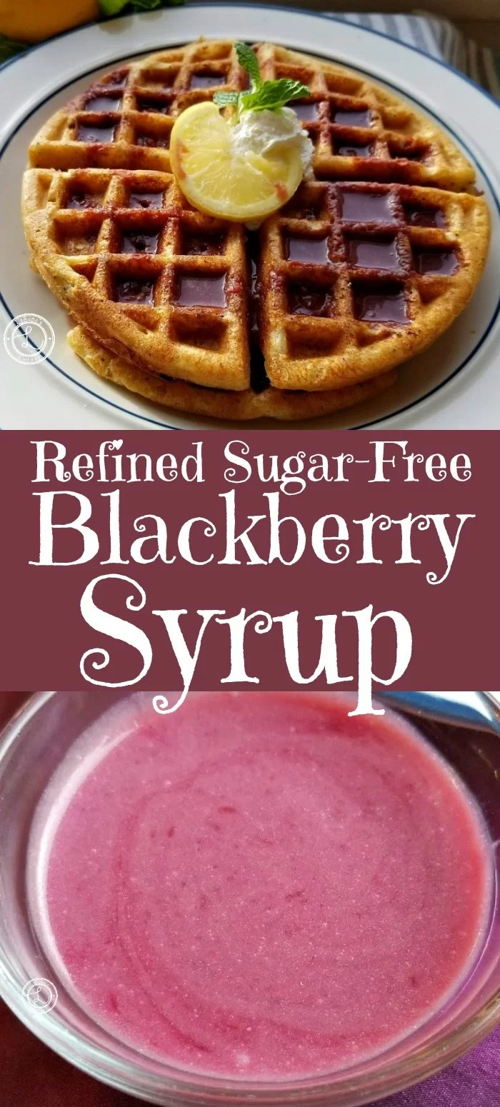 Gluten-Free Lemon Waffles with blackberry Syrup