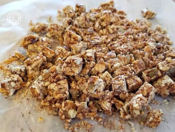 Chopped granola bars