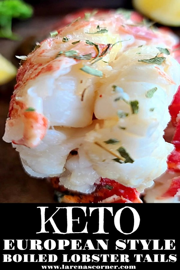A close up picture of a Keto Lobster Tail