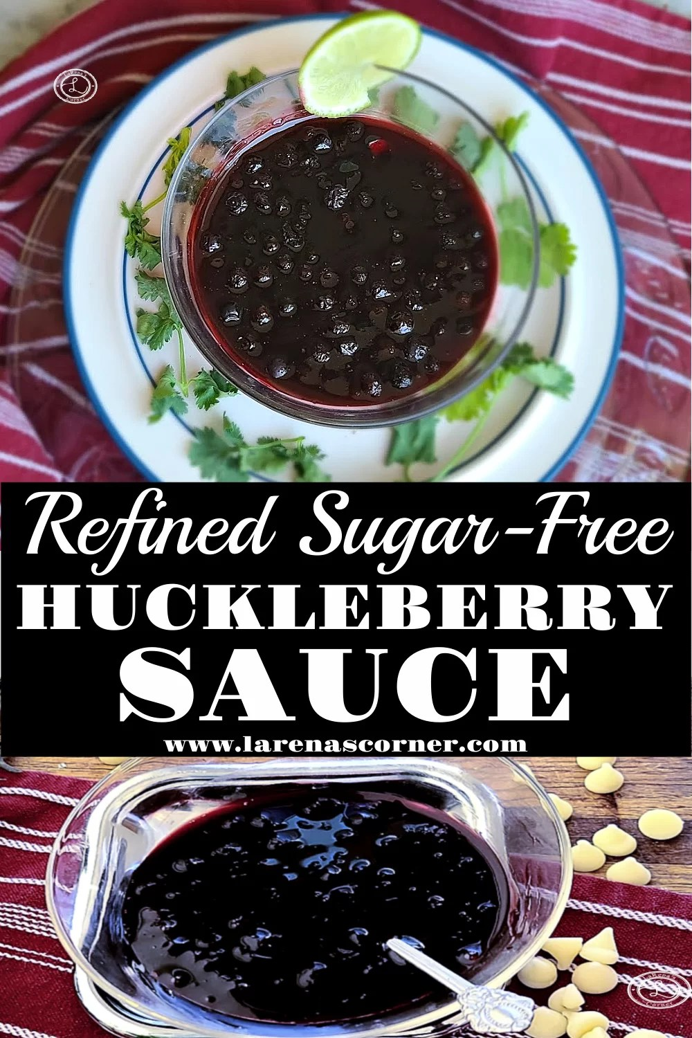 Refined Sugar-Free Huckleberry Sauce. Two pictures of this delectable sauce.