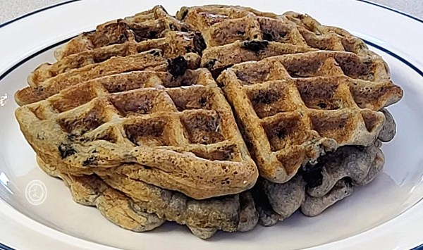 Cooked Gluten-Free Huckleberry Waffles