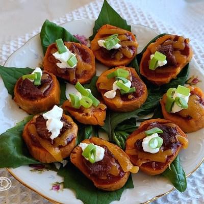 Cheesy BBQ Sweet Potatoes