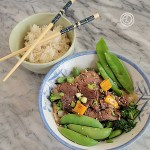 A bowl of Peppercorn Beef & Vegetables