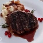Elk Steak Red Wine Reduction