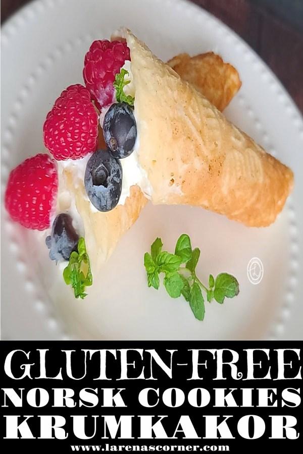 Gluten-Free Norsk Krumkakor Cookies