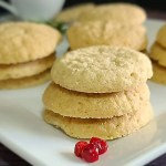 Gluten-Free Swedish Sugar Cookies Recipe on a white plate