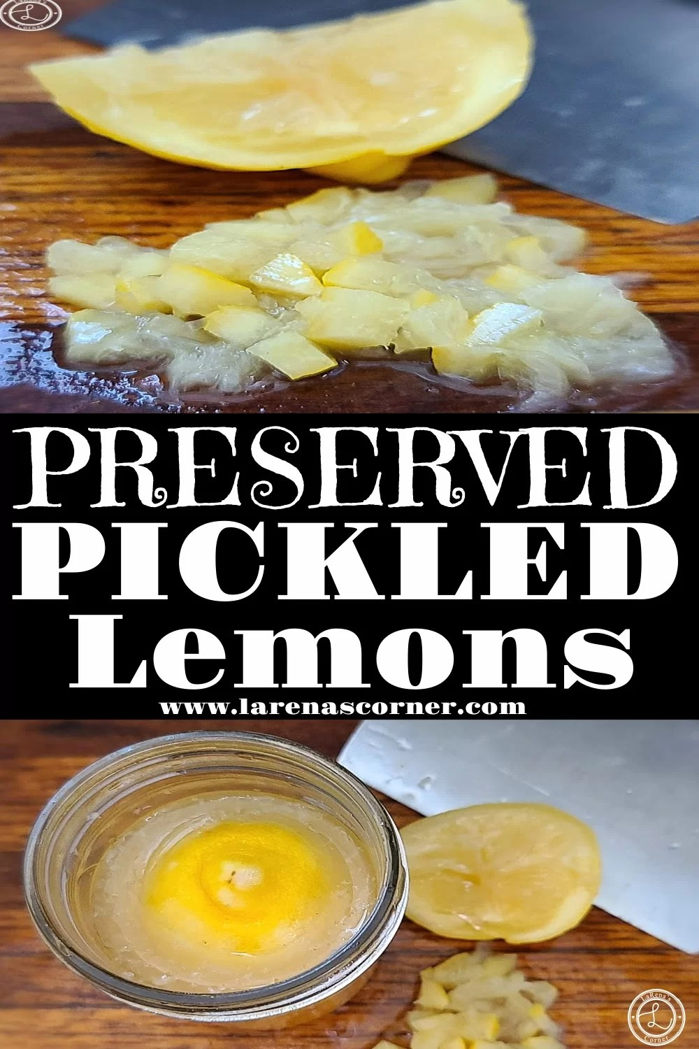 Two Pictures of pickled lemons.