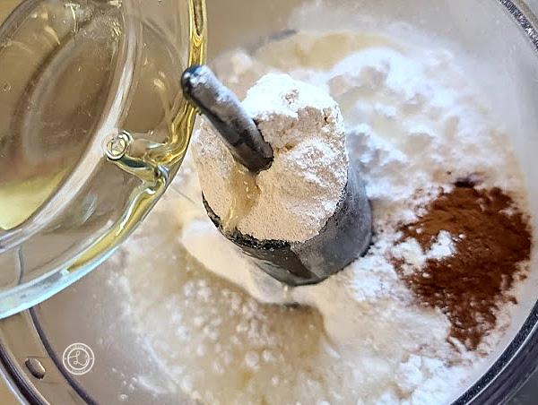 Adding in the coconut oil