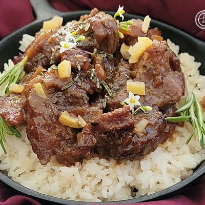 Greek Rosemary Braised Pork