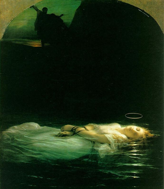 paul-delaroche-ophc3a9lia-la-jeune-martyre-1853