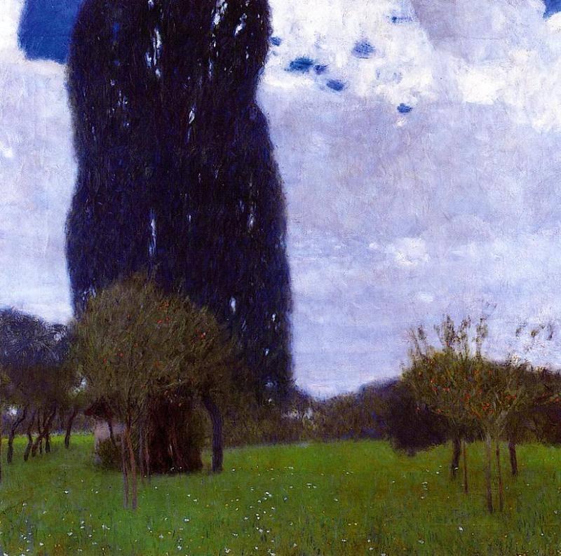 Gustav Klimt (Austrian, 1862-1918)- The Tall Poplar Trees II, 1900. Oil on canvas, 80 x 80 cm. Private Collectio