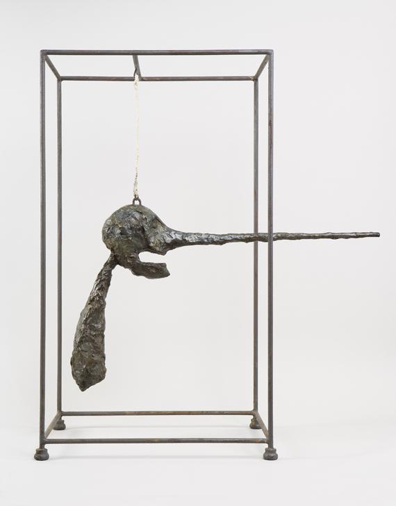 alberto-giacometti-1901-1966-le-nez-1947-platre-peint-corde-metal-826-x-775-x-367-cm-don-succession-aime-maeght-1992