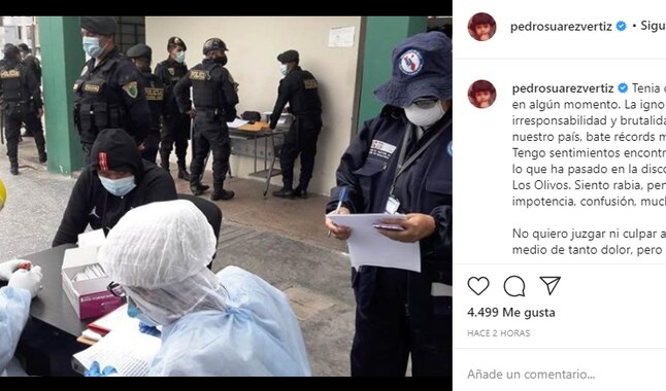 Pedro Suarez Vertiz se sumó al grupo de figuras del espectáculo que se pronunciaron sobre el incidente ocurrido en la discoteca de Los Olivos. Foto: Instagram