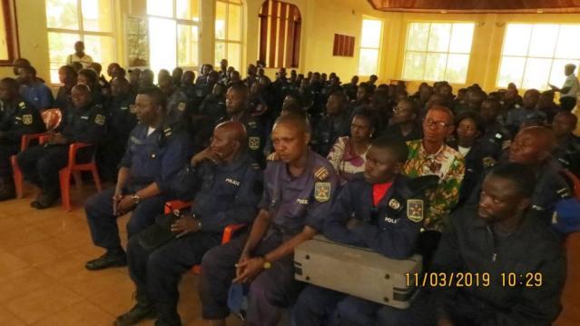 Butembo : La police locale se prépare aux élections du 31 Mars