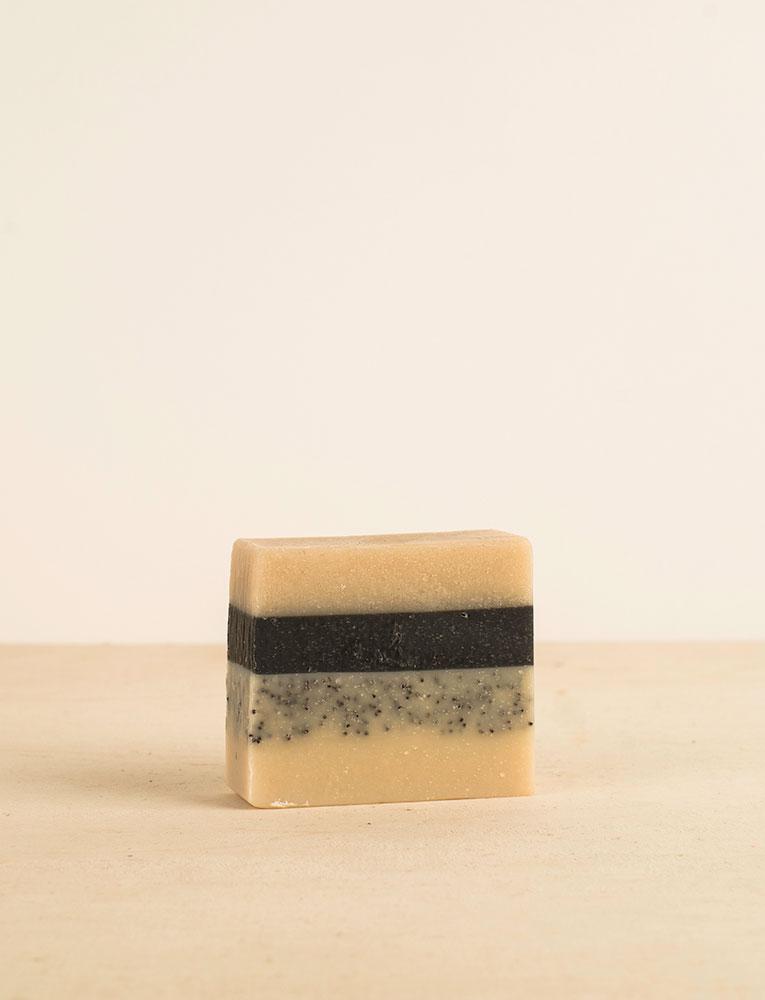 La ressource soins corps savon detox charbon actif gingembre patchouli citron alinessence 2 local naturel bio belgique Zero déchet