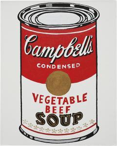 Not Warhol (Campbell's Soup Can, Chicken Gumbo Soup, 1962), 1984-86