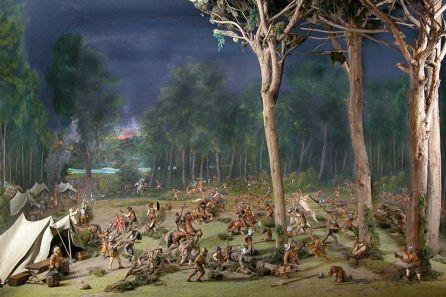 10-Bataille nocturne de Andalien (Source-Diorama, Galeria de la Historia de Concepcion-Chili)