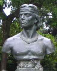 11-Buste présumé de Lautaro à Cañete, Chili (Source-Wikimédia Commons)
