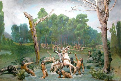 13-Evocation de la capture de Valdivia à Tucapel Source-Diorama, Galeria de la Historia de Concepcion-Chili)