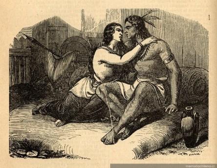 22-Image romantique montrant Lautaro, la veille de sa mort, avec sa compagne supposée (Source-Wikimédia Commons)