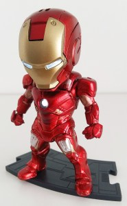 Small metal man action figure.