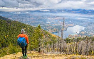 Hiker, Holland Lake, Montana