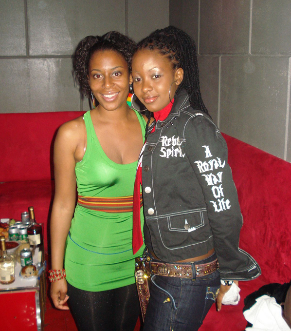 Nurse Karen (left) and Soca Monarch Faye Ann Lyons