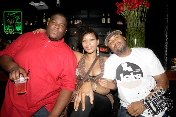Salaam Remi and friends getting ready for the festivities