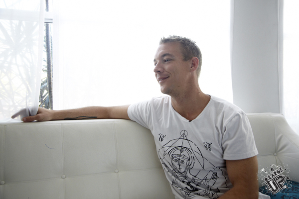 Diplo kicks it with LargeUp at the Spanish Court Hotel, New Kingston