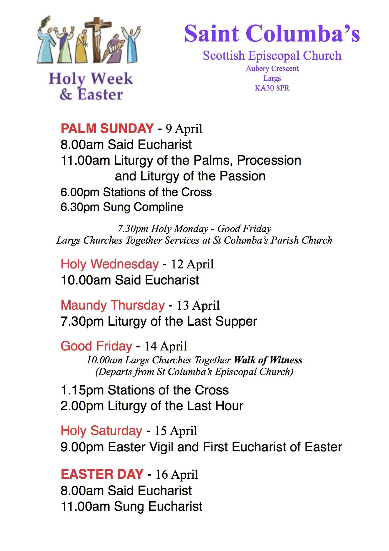 Holy Week Amp Easter Services