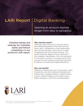 LARi Report cover: Digital Banking