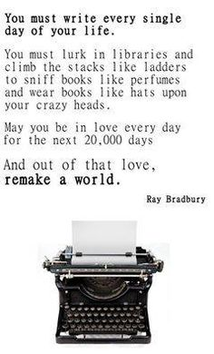 Bradbury Write Every Day