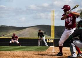 Photo by: Matt Corkill Bats fall short.