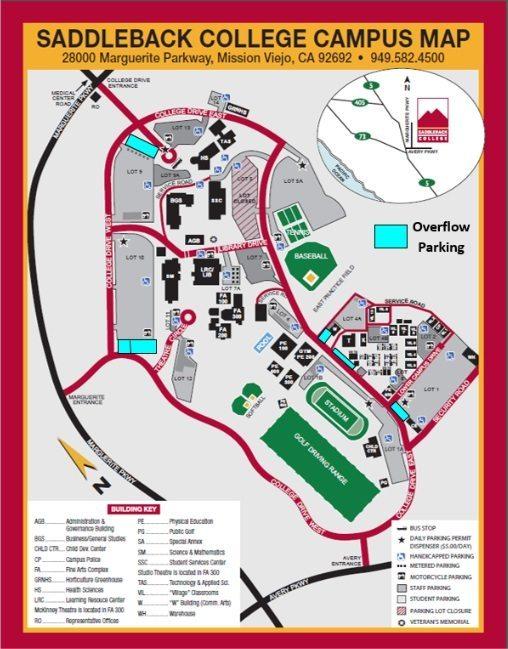 Saddleback College Campus Map   woestenhoeve