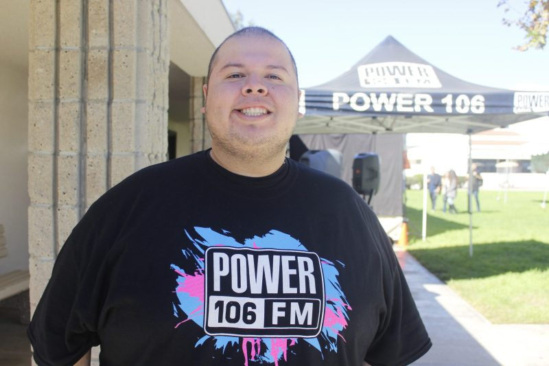 "Teddy Mora who DJ's for Power 106 came out to support the ""Dance and Shave against Cancer"" event. Lariat/ELizabeth Ortiz"