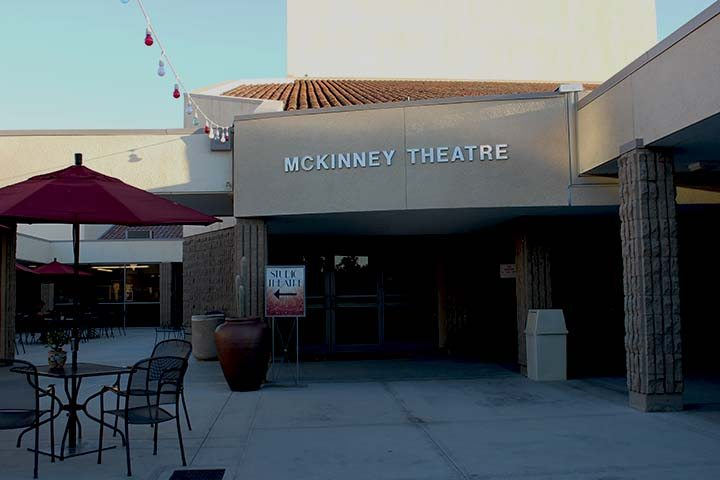 The McKinney Theatre is located in the Fine Arts Complex. (Photographer/Hannah Tavares).