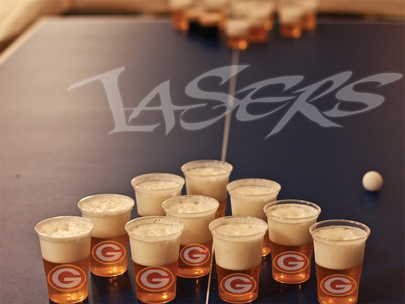 Saddleback College and Irvine Valley College will be allowing students to obtain more opportunites for athletic scholarships through beer pong. (Photo illustration / Niko LaBarbera)
