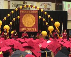Student speakers inspired the graduates at the Saddleback College 2015 commencement on Friday, May 22. (Facebook/Saddleback College)