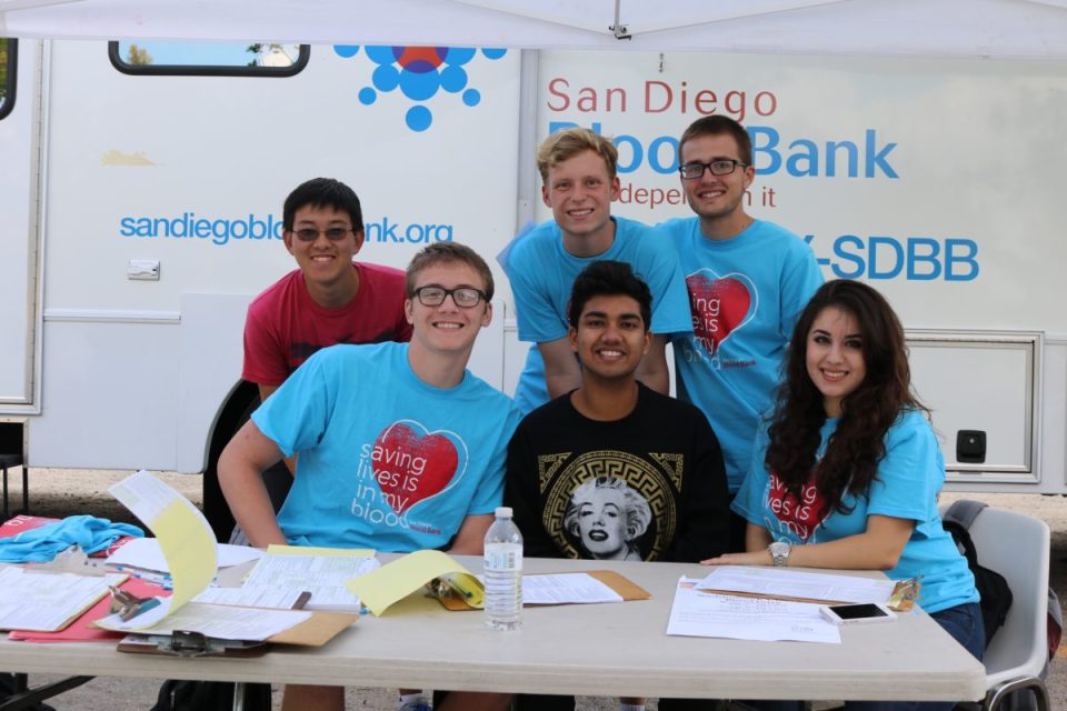 Members of ASG helping run the Blood Drive. (Kseniya Taranyuk/Lariat)