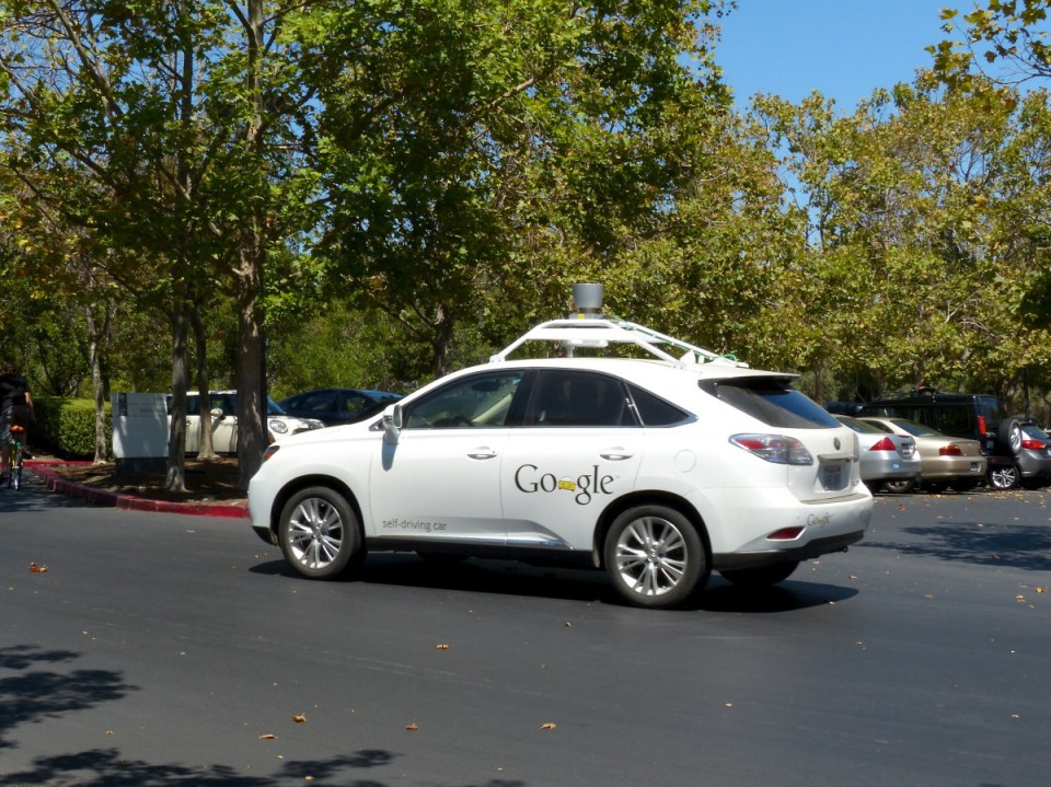 Google's autonomous technology being applied to a Lexus Rx350. (Roman Boed/ Creative Commons)
