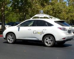 Google's autonomous technology being applied to a Lexus Rx350. (Roman Boed/ Creative Commons)