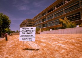 California residents have left their grass to because of the drought. (Flickr / Kevin Cortopassi/ Creative Commons license CC-BY-NC 2.0)