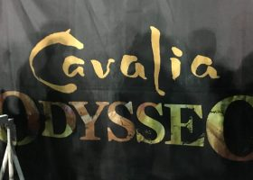 Cavalia presents Odysseo in Irvine under the big white tent. (Betsy Johnson/Lariat)