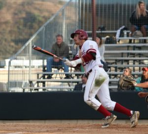 Saddleback College's Erik Voller hits a homerun to give the Gauchos a 3-1 lead against the Irvine Valley Lasers