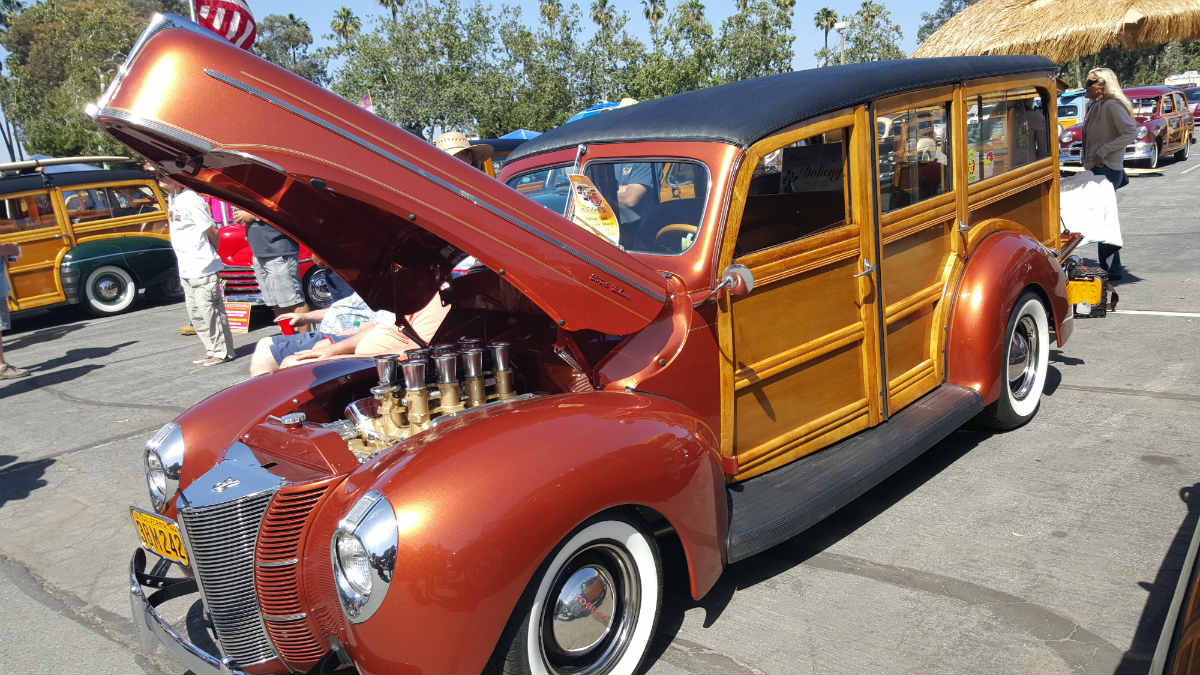 Woodie classic cars for show at Doheny State Park | Lariat